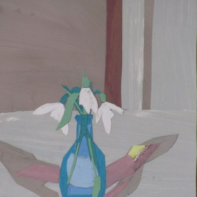 Sneeuwklokjes | 2011 | collage | 15 x 22 cm