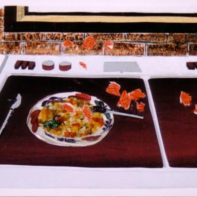Gehakballen | 2002 | collage | 19 X 10 cm