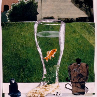 Sikkum yn e sokkum | 1997 | collage | 15 x 21 cm