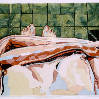 Stromend water | 2005 | gemengde tenhnieken | 74 x 45 cm