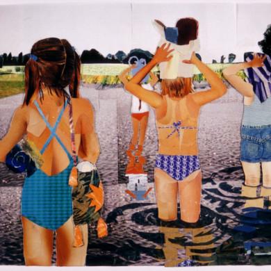 Te swemmen nei de Moarre deel 2 | 2000 | collage | 38 x 29 cm