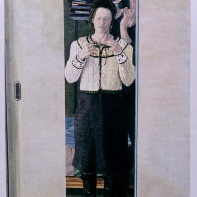 Zondagse kleren, het vestje van mijn moeder | 2006 | gemengde technieken | 113 x 163 cm