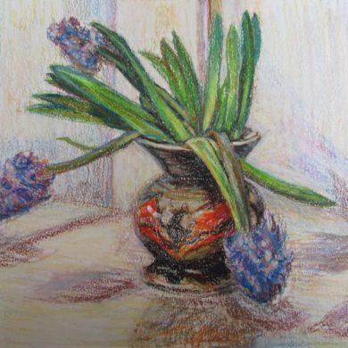 Dans van de hyacinthen | 2017 | oliepastel