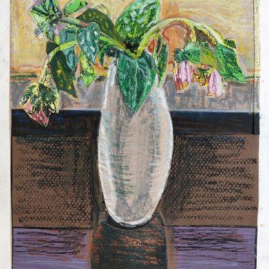 Longkruid en kleine smeerwortel | 2020 | gemengde technieken op papier | 17,5 x 25,5 cm